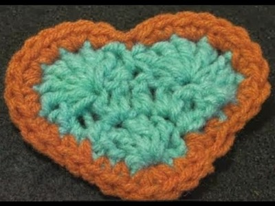 Easy Crochet Heart - Valentine - Left Hand Crochet Geek