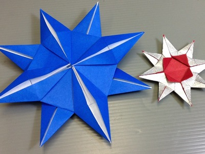 Easy Origami Christmas Eight Pointed Star