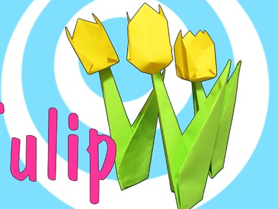 Easy Origami Tulip Tutorial