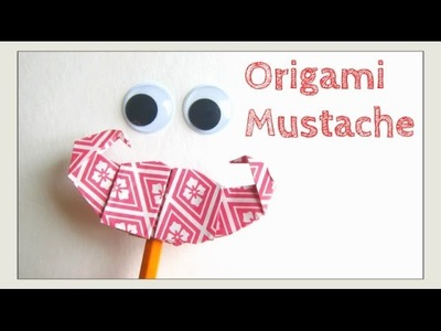 Father's Day Crafts - Origami Mustache.Moustache -HOW TO Paper Mustache, Pencil Topper & Puppet