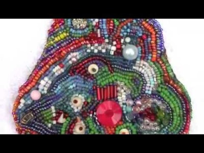 Free Form Bead Embroidered Piece by Jennifer D Burrell - mobile