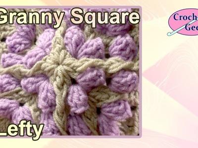 Granny Square Crochet- Left Hand Bulky Popcorn Crochet Geek