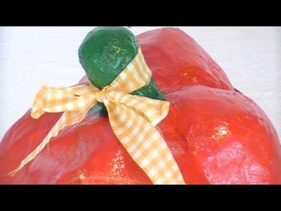 How 2 Make a Huge Red Pepper with Paper Mache