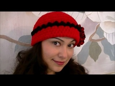How To Crochet a Red Flower Hat Step By Step Tutorial