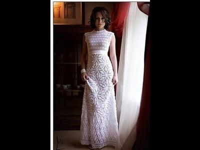 How to crochet wedding dress free pattern