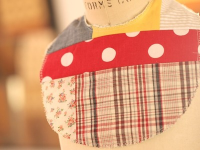 How to Make a Crazy Patchwork Bib || KIN DIY