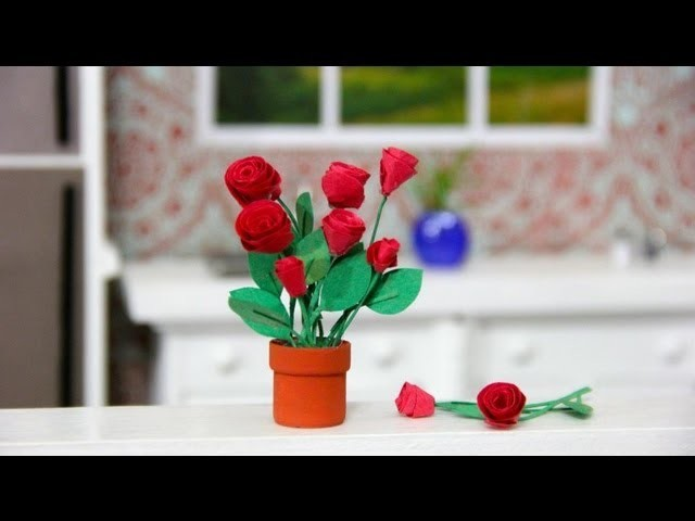 How to Make a Doll Flower Pot and Flowers - Doll Crafts