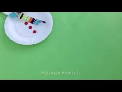 How to make a paper plate snowman