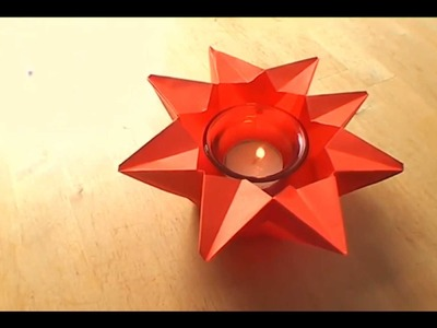 How To Make an Origami Star Candle-Holder - Falte Dir Deinen Origami Stern-Kerzenhalter!
