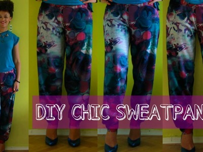 How To Make Chic Sweatpants Easy | DIY Clothes