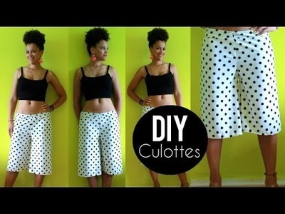 How To Make Culottes | Sewing For Beginners