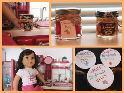 How to make Jelly Jars for your AG Doll!