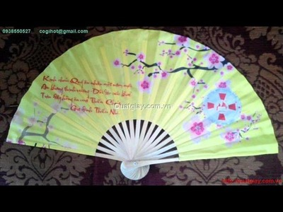 How to make Silk Fans (handy craft)