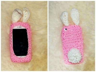 IPHONE CASE Easter Bunny How to crochet Cell Phone Case