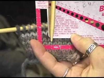 Knitting Instructional Video: How to Check Your Gauge