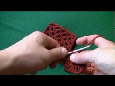 Left Hand: How To Crochet Granny Square