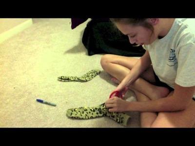 Leg warmer made from socks  DIY !!! Easy