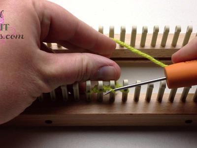 Loom Knit Diamond Lace or Figure 8 Cast on Single Knitting