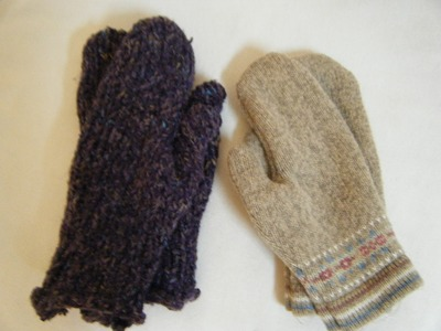 Make Mittens From an Old Sweater- Part One