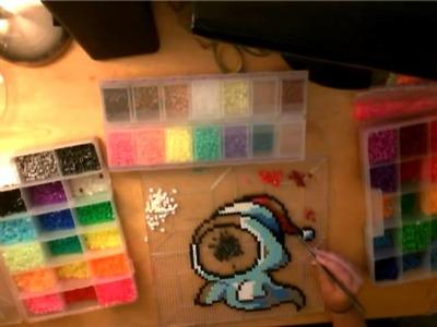 Maplestory - Christmas Jr. Wraith Perler Beads