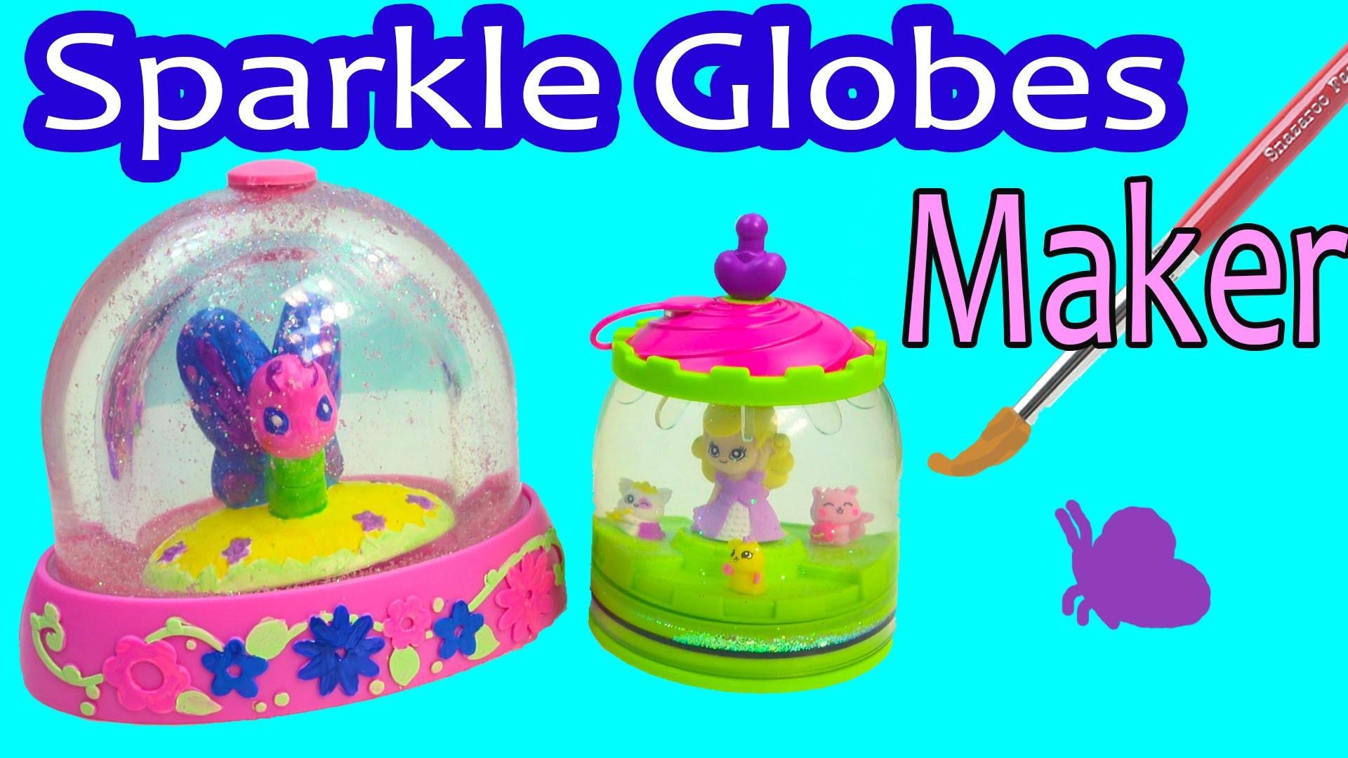 Mega Glitzi Globes Inspired Water Glitter Sparkle Globes Maker DIY Craft Playset Toy Unboxing