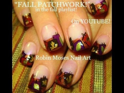 Nail Art Tutorial | DIY Easy Fall Nails | Autumn Patchwork Thanksgiving Design