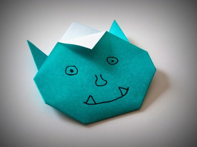 Origami - How to make a funny Monster (Oni)