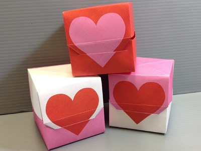 Origami Valentine Heart Gift Box - Print Your Own