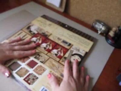 Paper Bag Mini Scrapbook Album & Layouts~Graphic 45 Communique Papers