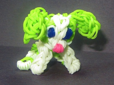Rainbow Loom Charm: DOG Puppy:  How to make Loom Bands Dog Tutorial