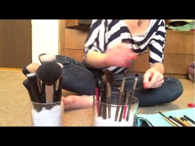 Simple DIY Makeup Brush Jars & Super Easy!!!