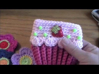 Small Haulsie from Listia: Crocheted Flowers and Cupcake Cozy!