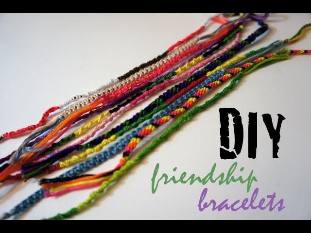 Style File - DIY Friendship Bracelets - 3 Easy Designs