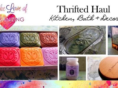 Thrifted Haul: Kitchen, Bath, Decor
