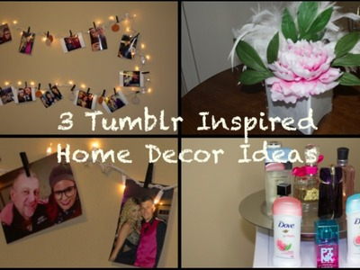 3 Tumblr Inspired Home Decor DIY:Perfume Tray, Glitter Vase & String Light! | Pinkl0vexx
