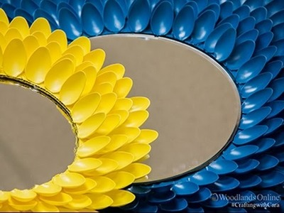 Crafting with Cara - Plastic Spoon Mirror