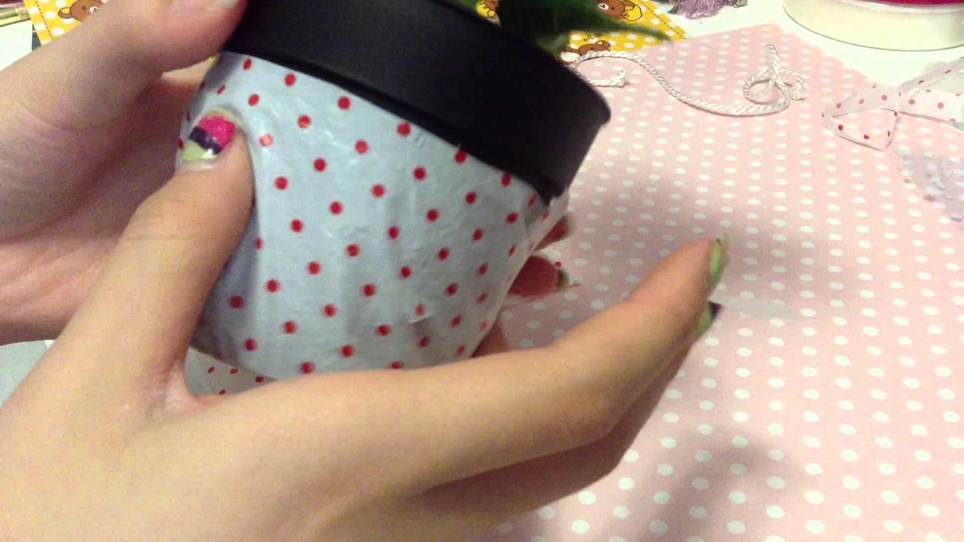DIY Decorating Flower Pot (with a plastic bag!!)