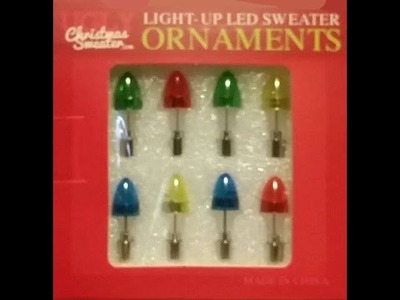 DIY Light-Up Sweater. (Light-up LED Sweater Ornaments)