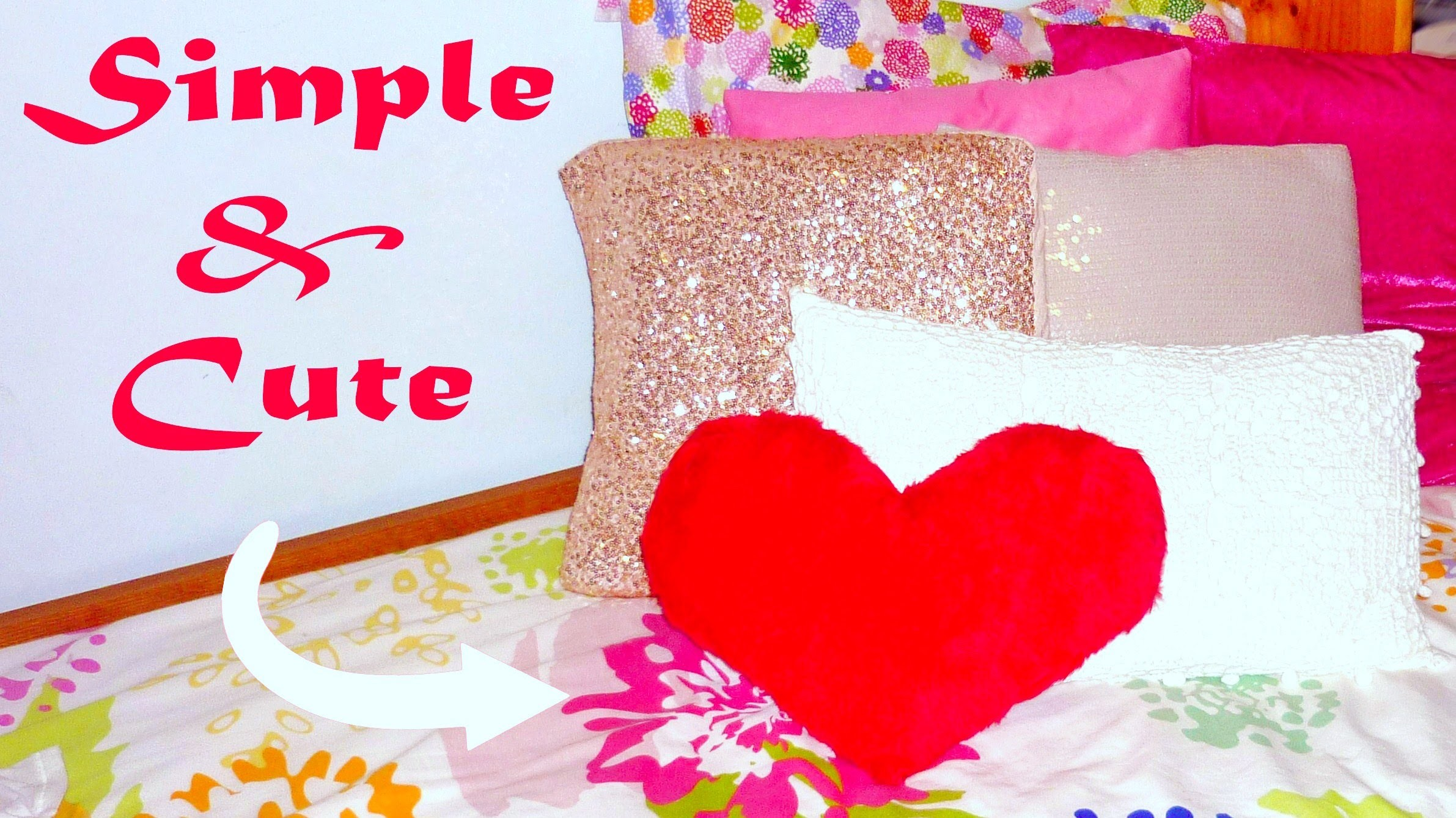 DIY ROOM DECOR ❤ No-sew heart pillow!