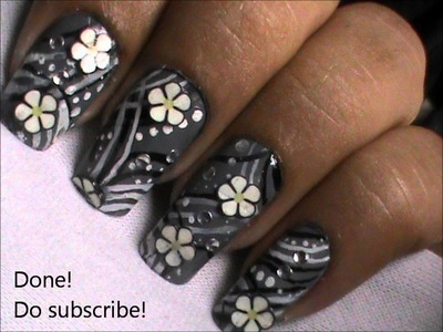 Easy fimo canes nail art tutorial- fimo clay creations from fimo canes collection DIY fimo flower