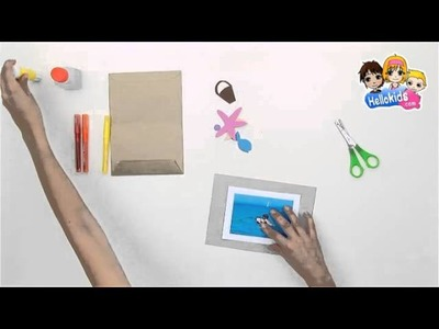 How to make beach holidays postcard - Kids Craft
