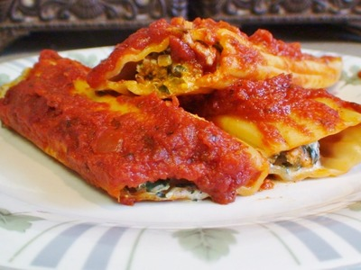 How to make Stuffed Manicotti by Christina