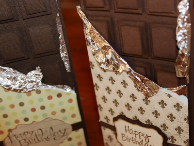 Learn how to make a Chocolate Block gift card