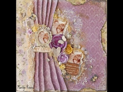 Scrapbooking Mix Media Video Tutorial by Marilyn Rivera for Maja Design