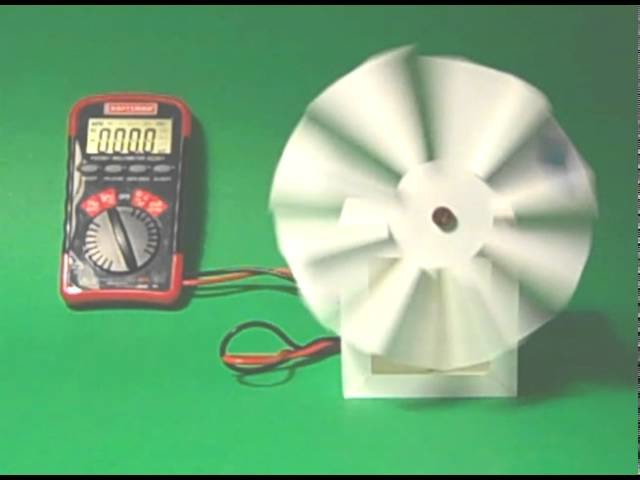 how to make a paper wind turbine