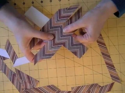 Tutorial: how to create chevron pattern from stripy paper