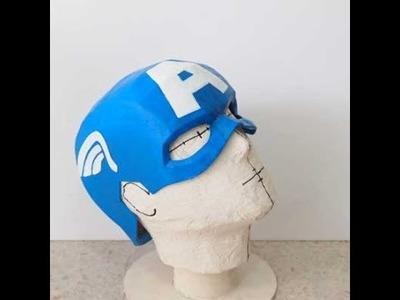 #19: Captain America Cowl DIY 3.3 - Paint