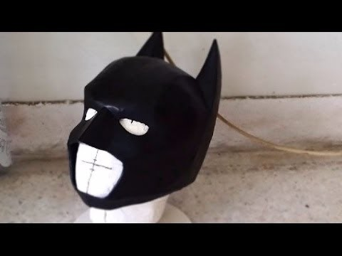 #26: Batman Cowl DIY 3.3 - cardboard, sanding & painting (with template)