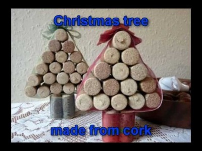 Craft ideas for Christmas - Christmas tree made from cork