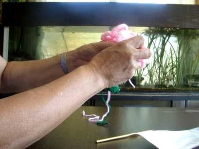 Crochet Rose Luggage tag